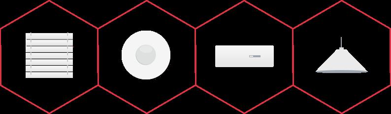 ikony komponentov slúžiacich na zabezpečenie
