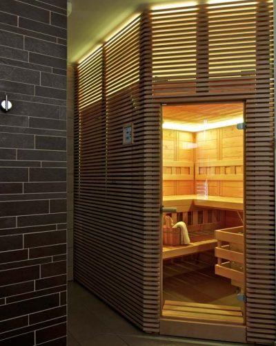 osvetlenie indikuje prípravu sauny